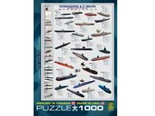 Submarines and U-Boats Jigsaw Puzzle, 1000 pieces Eurographics. Shipping.