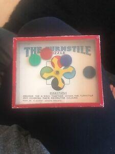 """Vintage """"The Turnstile"""" Dexterity Puzzle Game - R. Journet"""