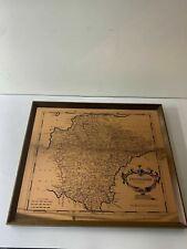 More details for etchmaster framed copper 1722 map of devonshire by robert morden