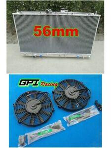 5row aluminium radiator + fan Mitsubishi Galant vr4 ec5a/ec5w 6a13tt 96-03