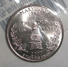 2000-P US Quarter, 25 cents, Dome of the Maryland State House coin. UNC-60
