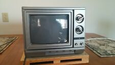 "Vintage 1987 GE Solid State 9"" Color Television 1980s General Electric Retro TV"