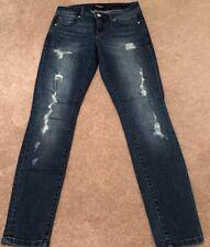 BEBE Ripped Denim Skinny Jeans. Size 27