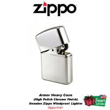 Zippo Armor Heavy Case Lighter, High Polish Chrome, Genuine Windproof #167