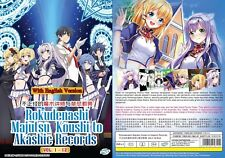 Anime Dvd~English Dubbed~Rokudenashi Majutsu Koushi(1-12End)Free Shipping+Gift