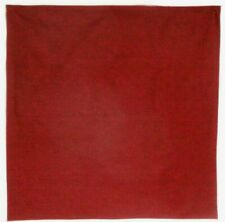 Bandanna on Solid Color Burgundy Red Tone on Tone 100% Cotton #401 New Handmade
