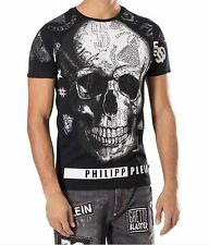 "Philipp PLEIN T-Shirt Motivo con strass-vezierung ""David"" FB. NERO taglia 3xl"