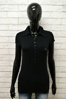 Polo Maglia Nera Donna Taglia S LEE Maglietta Shirt Woman Cotone Manica Corta
