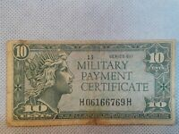 US 10 CENTS CENTS MILITARY PAYMENT CERTIFICATE , SERIES 611 Kool vignettes