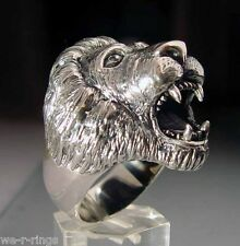 Sterling Silver .925   Lion Ring     RG10/S