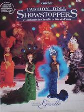Barbie Fashion Doll Showstoppers 7 Designs Costumes Crochet Doll Pattern *New*