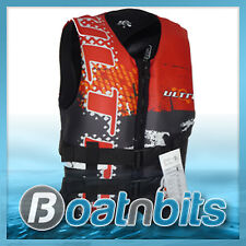 life Jacket, Neoprene Extra, Extra Large Adult Red wakeboarding waterskiing PFD2