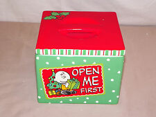 New Holiday Christmas Snoopy & Charlie Brown Ceramic Snack Jar Storage Canister