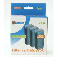 SuperFish Aqua Flow Aquarium Filter Cartridges Fish Filters 50,100,200,400,XL