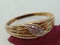 Schicker 333er Gold Ring mit  Brillant besetzt Schmuck