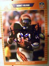 Cincinnati Bengals Rodney Holman Signed 1989 Proset Auto Card