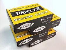 Coloured Pool Snooker Billiard Cue Tip Table Chalk 4 BOXS 12 blocks in each box