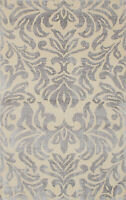 "Modern Hand-knotted  Carpet 4'10"" x 7'11"" La Seda Transitional Wool/Silk Rug"