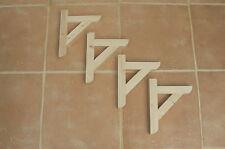 """Wooden Shelf Brackets x 4 (Ideal for 6"""" - 8"""" Shelves)"""