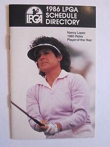 LPGA 1986 SCHEDULE DIRECTORY NANCY LOPEZ