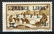St Pierre et Miquelon 1941, 30c on 10c overprint France Libre VF MNH, Yv 275