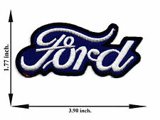 Blue Ford Car Automobile Racing Logo Applique Iron on Patch Sew For T-shirt Hat