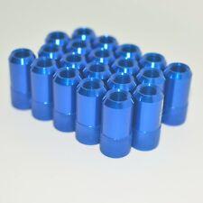 20PC JDM D1 ANODIZED BLUE ALUMINUM  M12X1.5M WHEEL RIM LUG NUTS For Toyota Honda