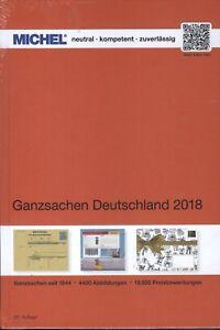 Michel Ganzsachen Deutschland 2018 NEU