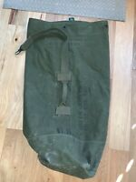 Vintage US Army Vietnam era DUFFLE BAG OD Green Canvas Named