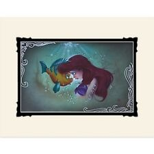 Disney Parks Little Mermaid Ariel and Flounder Deluxe Print by Noah New