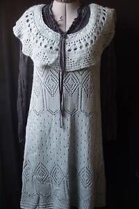 Myrine & Me -  Neuve! Sublime robe lainage bleu .T 42