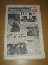 MELODY MAKER 1960 DECEMBER 3 DIZZY GILLESPIE EARTHA KITT FRANKIE VAUGHAN +
