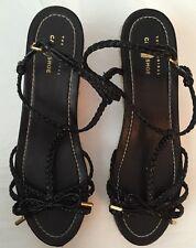 The Original Car Shoe Black Sandal Wedges Sz 39 1/2