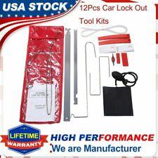 12pcs Car Door Open Unlock Tool Kit Key Lost Lock Out Wedge Emergency Air Pump
