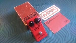 Vintage MXR DynaComp Effect Pedal -->Block logo - Unmarked - Boxed - Manual <--