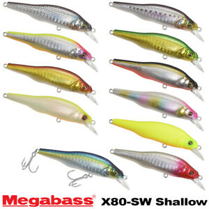 Megabass X-80 SW Shallow 11 g Assorted Colors Slow Sinking SW Minnow