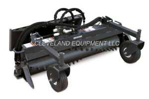 """48"""" SOIL CONDITIONER HARLEY RAKE ATTACHMENT Ditch Witch Vermeer Mini Skid Steer"""