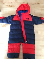 THE NORTH FACE infant  LIL SNUGGLER DOWN SUIT 3-6 MONTHS SNOW BUNTING