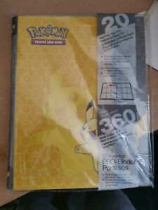 OFFICIAL Pikachu Pokemon Ultra PRO BINDER 360 Card Storage Album Folder GENUINE