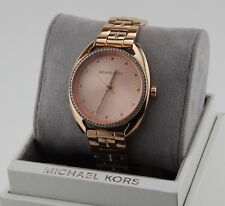 NEW AUTHENTIC MICHAEL KORS LIBBY ROSE GOLD CRYSTALS WOMEN'S MK3677 WATCH