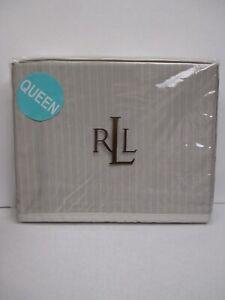 Ralph Lauren 450TC ODEON Gray Striped Flat Sheet - Queen