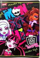 Monster High-A5 escritura Libro de ejercicios 32 páginas, Forrado, Con marigin. Zeszyt