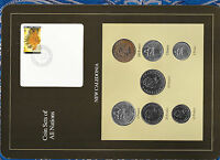 Coin Sets of All Nations New Caledonia 1985-1991 UNC 100,50,20,5 Francs 1991