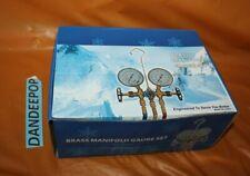 Brass Manifold Gauge Set Ct 536gfs Hvac Refrigeration Diagnostic Tool R502