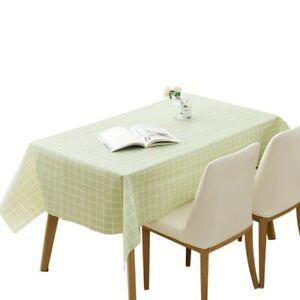 PEVA Plaid Pattern Table Cloth Wipe Clean Rectangle Dining Table Tablecloth