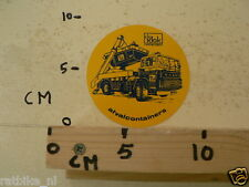 STICKER,DECAL VOLVO TRUCK DE KLOK AFVALCONTAINERS
