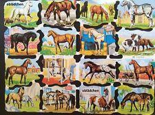 # GLANZBILDER # kompletter Großbogen MLP 1531 & 1532 schöne Pferde