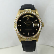 Custom BD End Links Solid Gold and Diamond-Fits Rolex President Day Date Watches