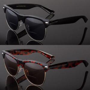 Classic Vintage Style Reading Bifocal Sunglasses Men Women Metal Half Frame