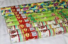DISNEY TOY STORY WOODY BUZZ GREEN BOY'S CHRISTMAS GIFT PAPER 3MX70MM 9 ROLLS NEW
